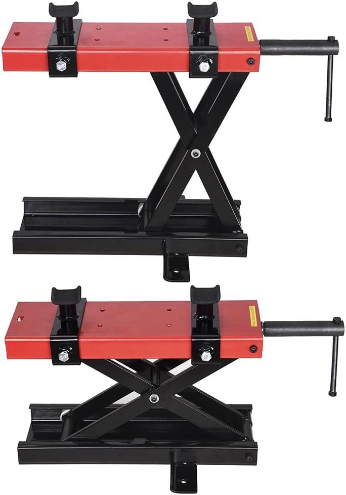 1100lbs Max Motorbikes Lift Motorcycle Bike Motorbike Stand Lifting Scissor Lift Stage ReaseJoy 500kg