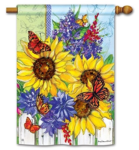 Blossom Giftware (Butterflies and Blossoms House Flag - 28