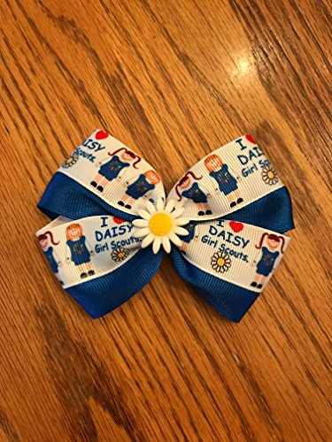 Adorable Handmade Girl#039squotDaisy Scoutsquot Hair Bow Barette