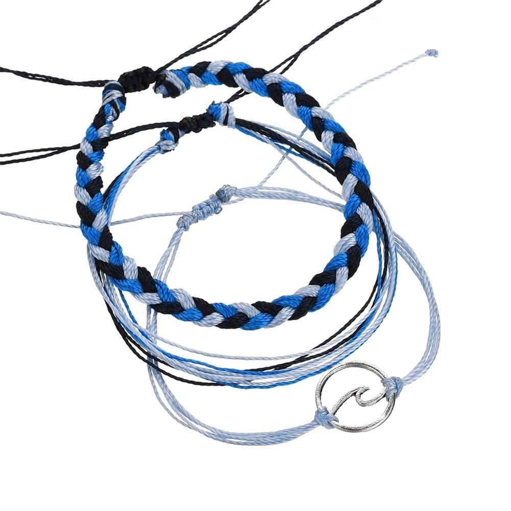 OMTBEL STOOLY Braided Rope Friendship Bracelet Set Handmade Waterproof Wrap Bracelet Charm for Woman Kids