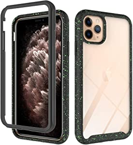 Transparent Hard PC Case Compatible with iPhone 11 pro 5.8 inch Display Case,Crystal Clear Slim Protective Heavy Duty Cover Soft TPU Bumper Edges & Transparent Hard PC Back Hybrid Cases