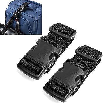 Pack de 2 correas Add-A-Bag de AVESON para maletas, ajustables ...