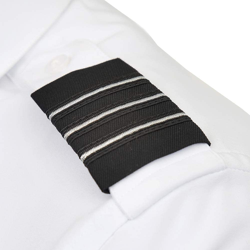 Navy and Silver Fits Snugly Around the Epaulet Strap of Your Pilot Shirt A Cut Above Uniforms Epaulets