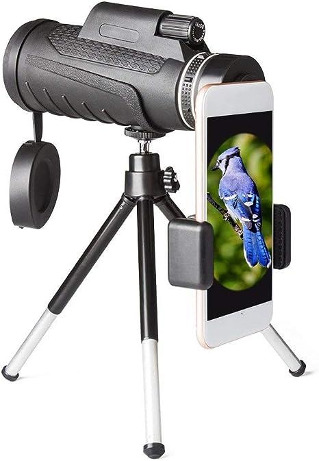 SHIJIAN Telescopio monocular, Prisma monocular de Alta Potencia 40x60 con Adaptador de Smartphone, Soporte para trípode para observación de Aves, Caza, Senderismo, etc.: Amazon.es: Deportes y aire libre