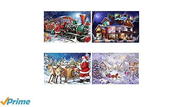 Santa Claus Rhinestone Embroidery Cross Stitch Arts Craft for Christmas Canvas Wall Decor DIY 5D Diamond Painting Kit