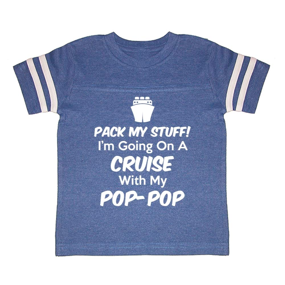 Pack My Stuff Toddler//Kids Sporty T-Shirt Im Going On A Cruise with My Pop-Pop