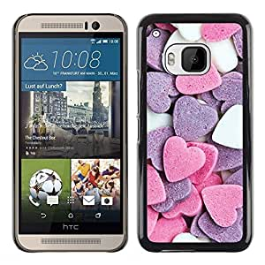iKiki Tech / Estuche rígido - Heart Candy Sweet Valentines Pink White - HTC One M9