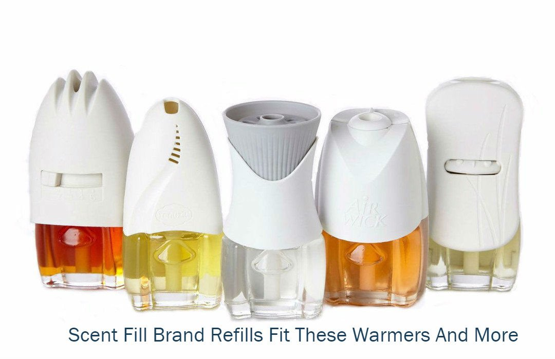 (4 Pack) Scent Fill® Brand 100% Natural Peppermint Refills and (1) Air Wick® Warmer by Scent Fill (Image #2)