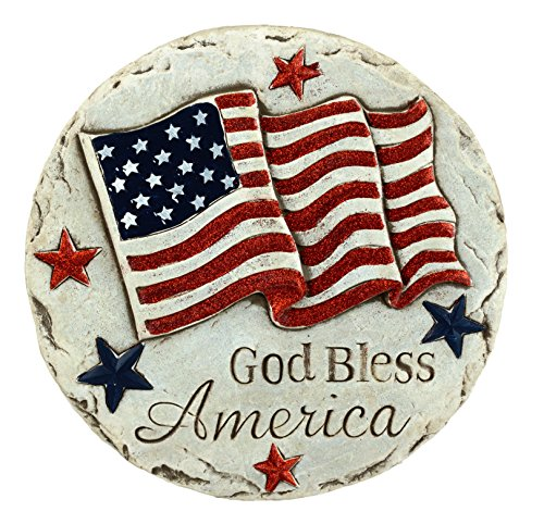 Gerson God Bless America Patriotic Stepping Stone