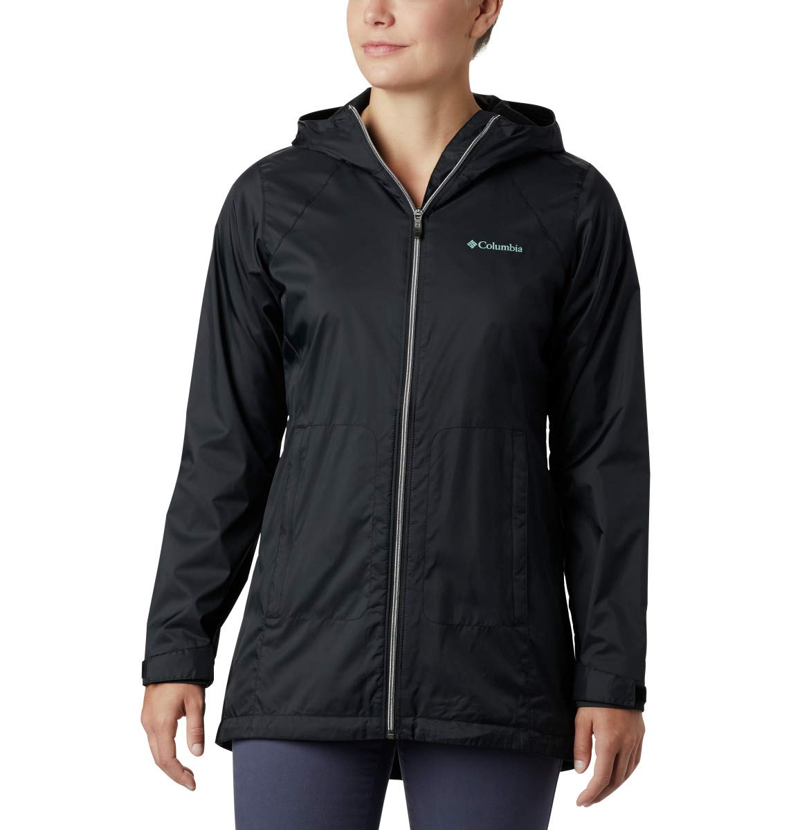 Columbia Women's Plus Size Switchback Lined Long Jacket, Black, 3X by Columbia