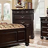 Syracuse Transitional Style Dark Walnut Finish Bedroom Chest