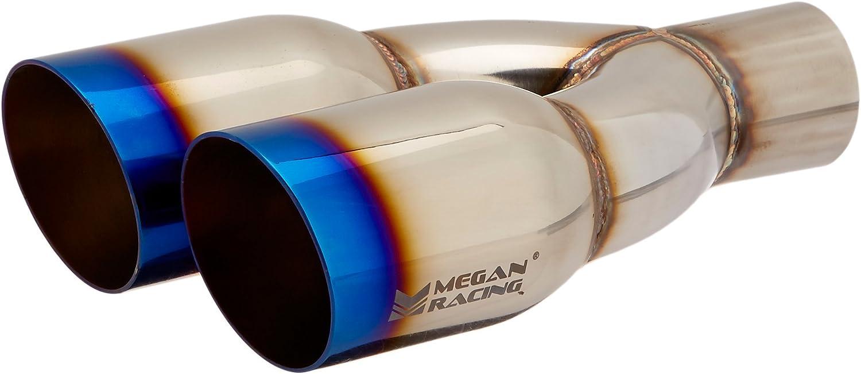Megan Racing MR-UT-TBC-DS Stainless Black Chrome 3.5 Racing Universal Twin Tip