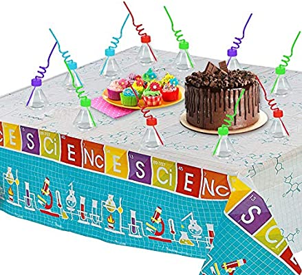 Miraculous Science Party Supply Set Mad Scientist Party Tablecloth 10 Birthday Cards Printable Inklcafe Filternl