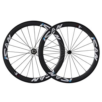 Ican 50mm Carbon Road Bike Wheelset 700c Clincher