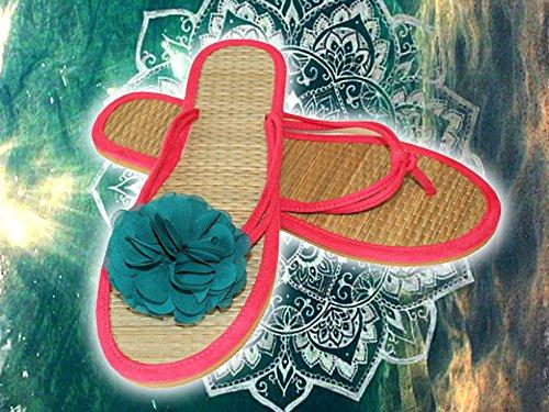 La Loria Damen 2 Schuhclips Cute Flower Schmuck-Accessoires für Schuhe Schuhschmuck Dunkelgrün