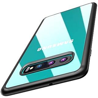 TOZO for Samsung Galaxy S10 Plus Case 6.4 Inch (2019) Hybrid Soft Grip Matte Finish Clear Back Panel Ultra-Thin [Slim Thin Fit] Cover for Samsung Galaxy S10+ with [Black Edge]