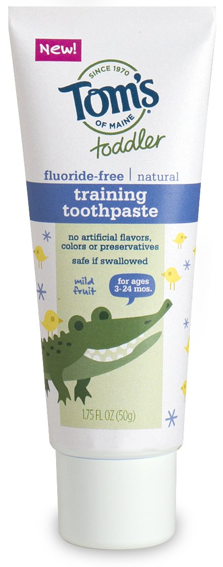Tom's of Maine Toddlers Fluoride-Free Natural Toothpaste in Mild Fruit Gel, 1.75 Ounce (Pack of 6)