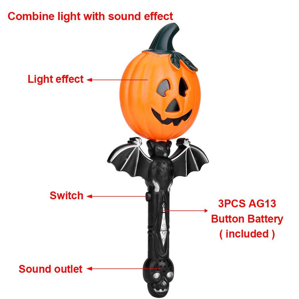 Amazon com: Garosa Halloween Magic Wand Pumpkin Flashlight