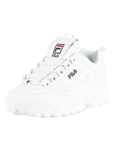 128ac63d188 Fila Womens White Disruptor II Premium Sneakers-UK 3