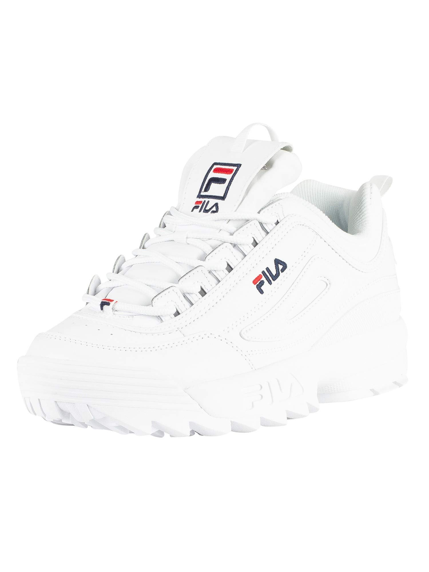 Galleon - Fila Disruptor II Premium 5FM00002-125 Leather Synthetic Unisex  Trainers - White - 44.5 710c19bcd51