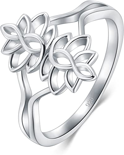 Tree of Live Band Ring 2mm Size 4-12 BORUO 925 Sterling Silver Ring