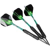 Hopewey Dartpijlenset, 3 stuks professionele steeldarts stalen tip dartpijlen set darts (stalen dartpijlen) met flights…