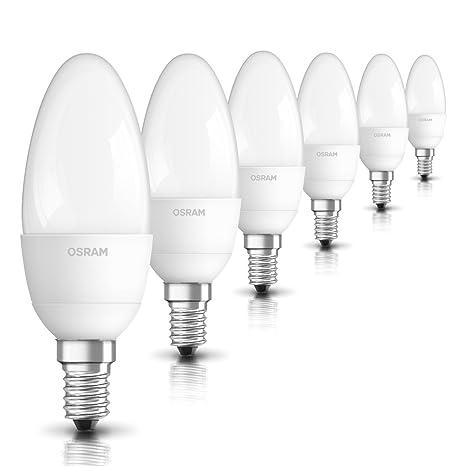 Osram Star Bombilla LED E14, 5.7 W, Blanco Pack de 6 unidades