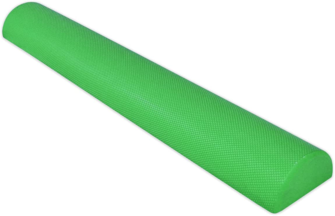 YogaAccessories 36 Half Round EVA High Density Foam Roller - Green