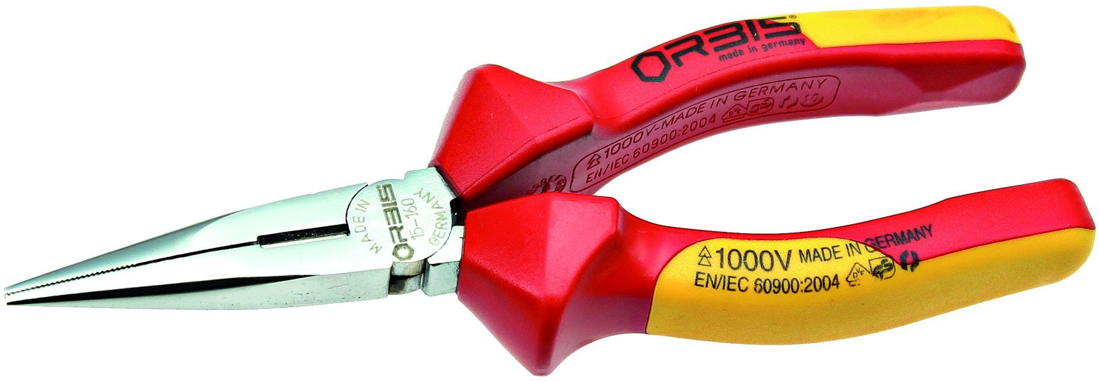 Orbis 15-1600/44RV Radio-/Telephone pliers 6 1/4'' mirror-polished with cutter/dual-component-VDE-sleeve by Orbis