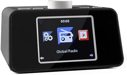 auna i snooze • Design radio Internet • Radio réveil • Haut parleur stéréo • WiFi • Port USB compatible MP3 • Écran couleur TFT 3,2