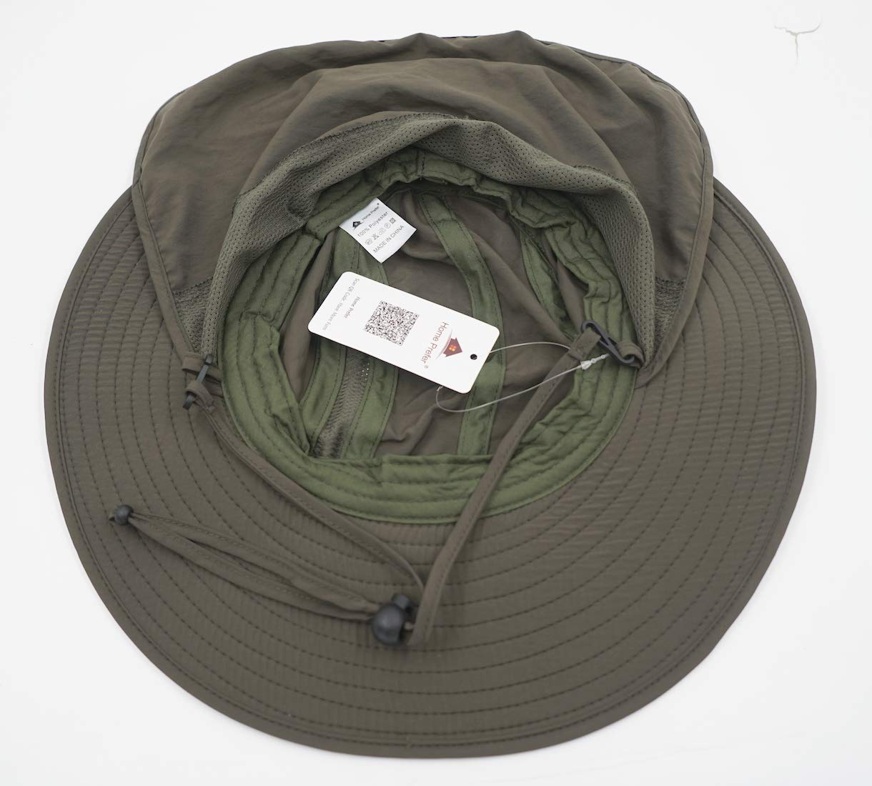 1e9c485cb1f98 Amazon.com   Home Prefer Mens UPF 50+ Sun Protection Cap Wide Brim Fishing  Hat with Neck Flap (Army Green)   Sports   Outdoors