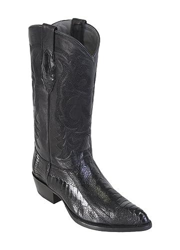 996eeee07f8 Amazon.com | Men's J-Toe Genuine Leather Ostrich Leg Western Boots ...