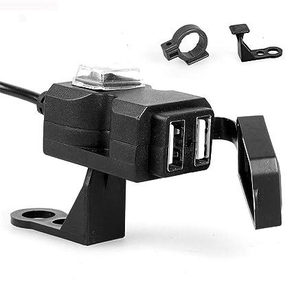AAlamor 12V Impermeable Dual USB Port Cargador del Manillar ...