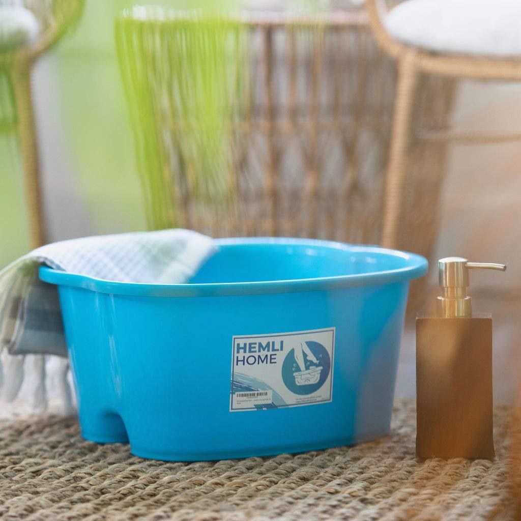 Foot Soaking Bath Basin - Large Size For Soaking Feet - Perfect for at Home Pedicures and Spa Treatments - Foot Spa Soak Tub: Beauty