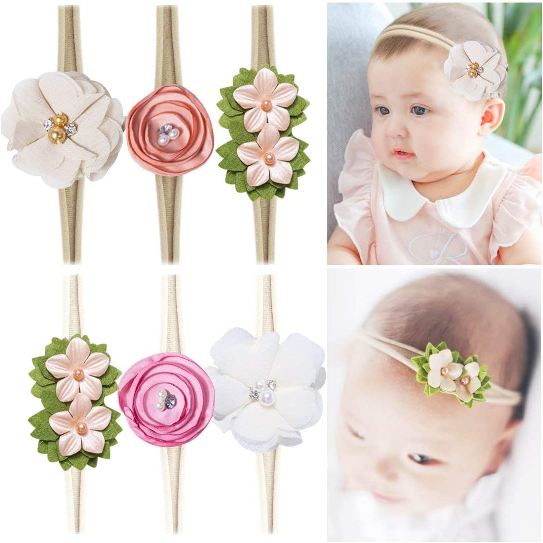 Baby Girl Cute Turban Headbands Head Wrap Knotted Hair Band for Newborn Toddler and Childrens Nylon Headbands Kids Gifts
