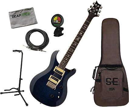 PRS SE CU4WB Custom 24 - Guitarra eléctrica con cable, soporte ...