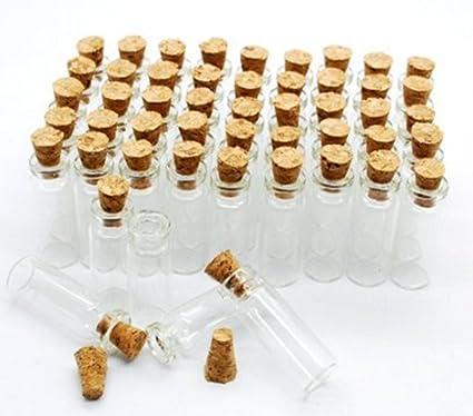Dulce Primavera Agua 50pcs 0,8 ml pequeño Mini botellas de vidrio tarros con tapón