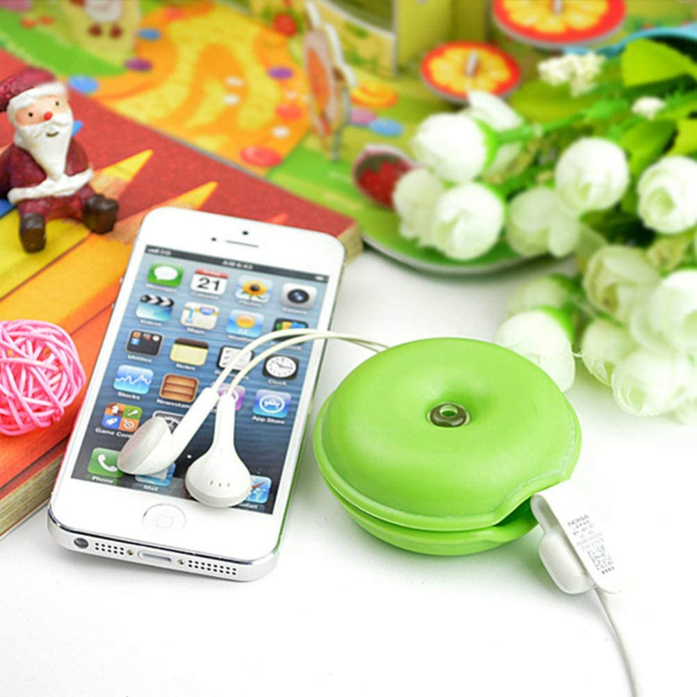 Random Color Cabilock 10pcs Cable Winder Portable Round Protective USB Cable Wires Earphone Holder Organizer Keeper Storage Case