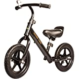 Baybee Trike Best Balance Bike for Kids and Toddlers | Boys and Girls Self Balancing Bicycle with No Pedals is Perfect for Training Your 18 Month Old Child | Classic Run Bikes for Balance Training - ( Black )