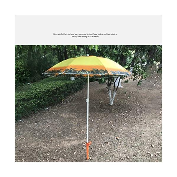 CLISPEED Picchetto per Ombrellone Regolabile per Ombrellone da Spiaggia Pesca Sole Giardino (Colore Casuale) 2 spesavip
