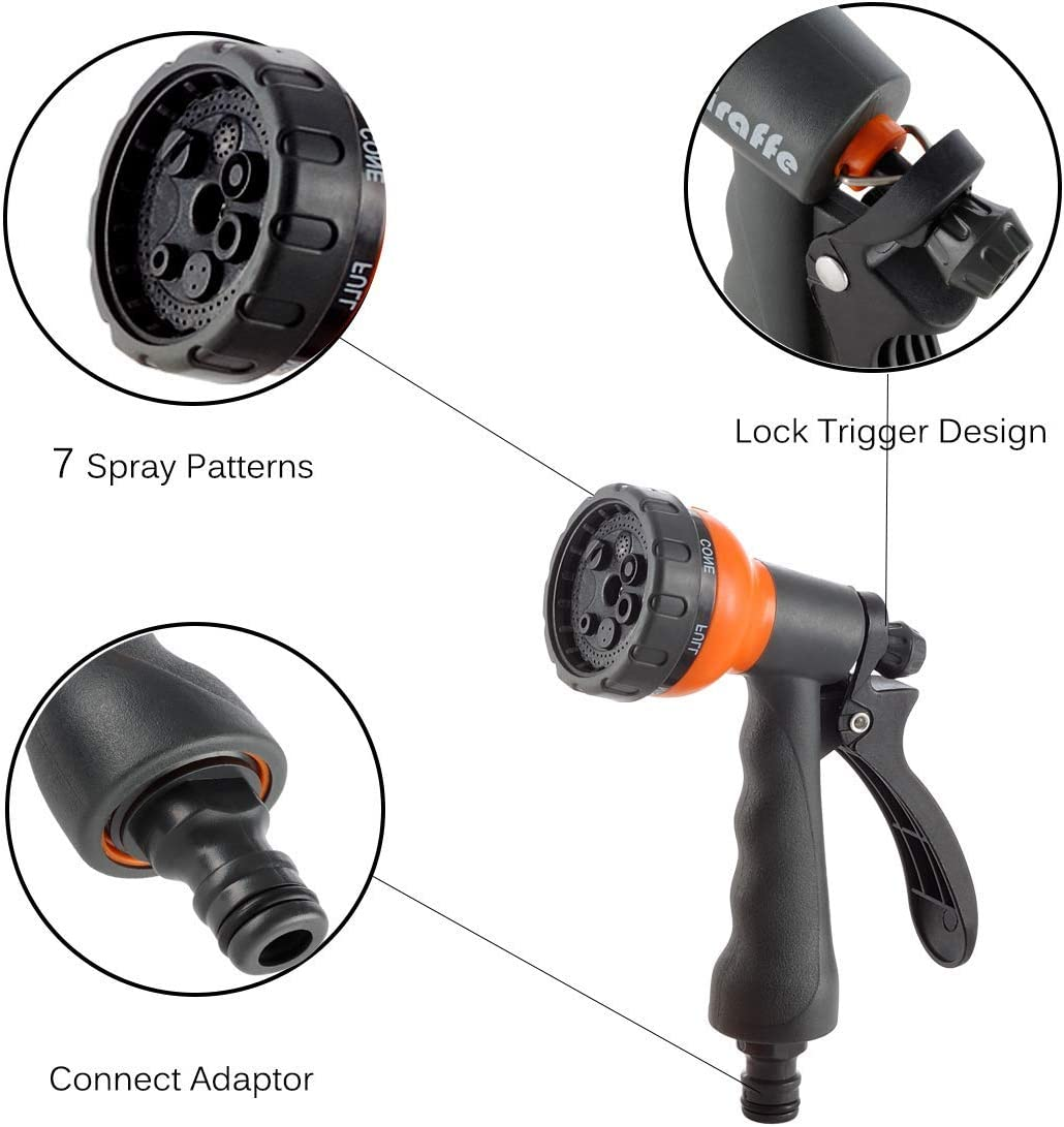 180 Pivot with 7 in 1 Spray Nozzle and Learder Hose Giraffe Tools ...