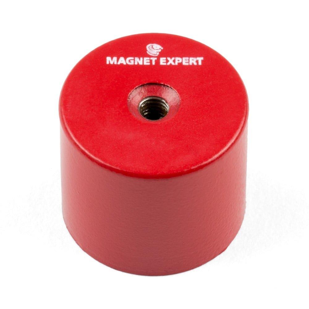Magnet Expert® 35mm diamètre x 30mm Alnico Profond serrage aimant, M6 fileté trou, 14kg force d'adhérence, pack de 1 M6 fileté trou 14kg force d'adhérence Magnet Expert® ALDP3530M6-1