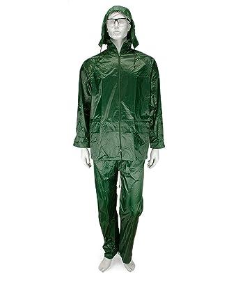 Galaxy Safety 504 7 traje de lluvia con capucha verde 3 x l ...
