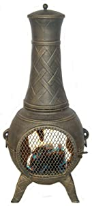 Deeco CP DM6035J-AA Western Basket Weave Jr. Chiminea