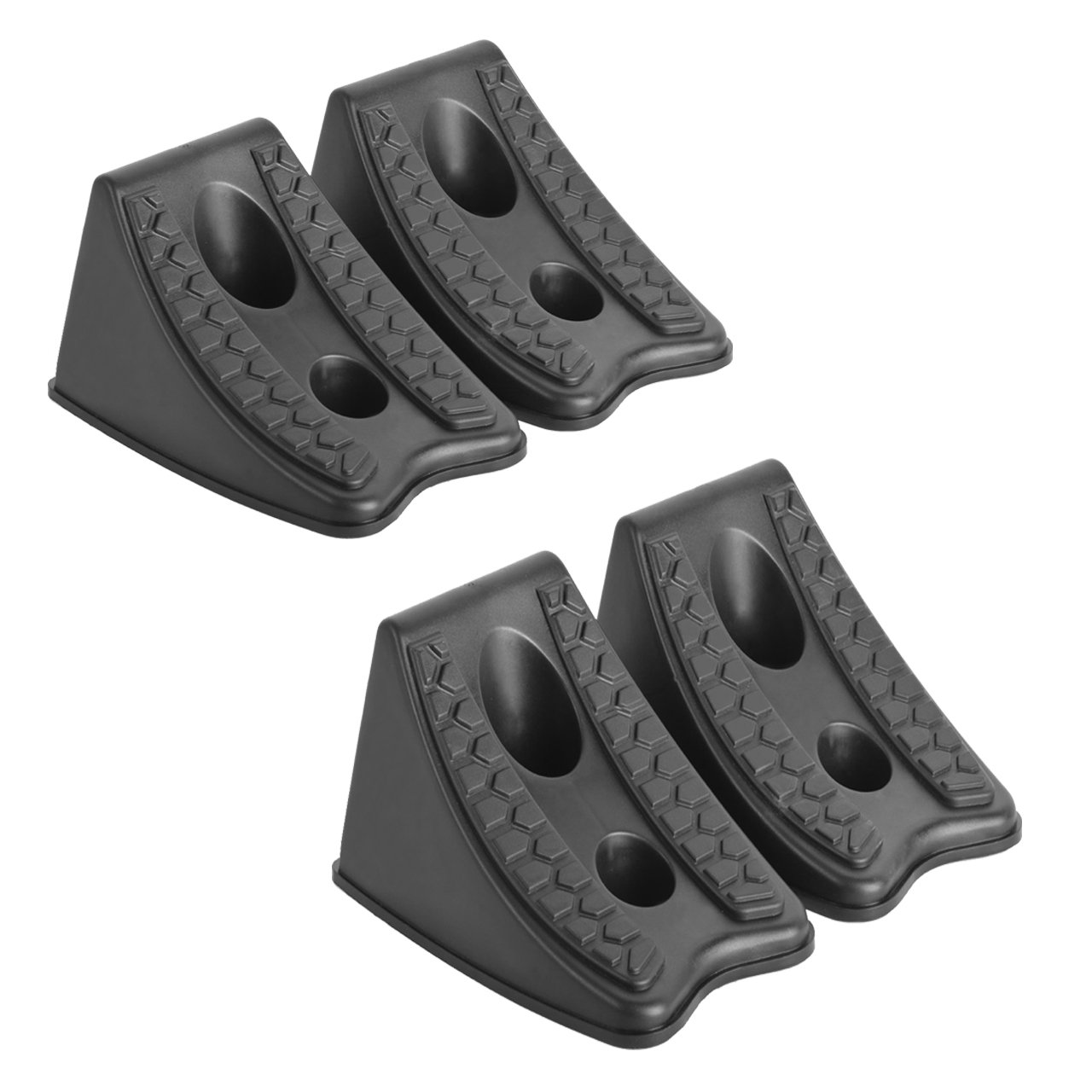 DEDC Heavy Duty Wheel Chocks for Caravan Car Wheel Stoppers Tire Chocks 4 Pack, RV Trailer ATV Truck Tire Wheel Blocks by DEDC