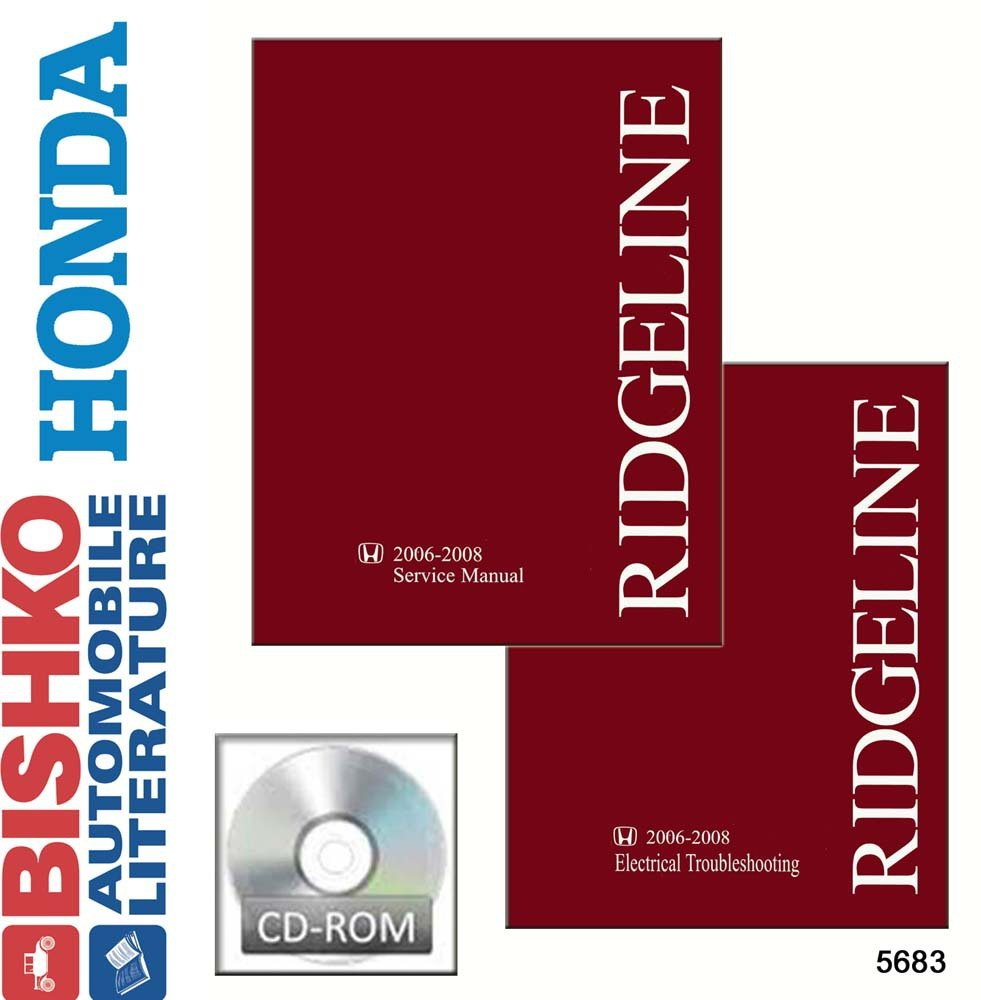 Amazon.com: bishko automotive literature 2006 2007 2008 Honda Ridgeline Shop  Service Repair Manual w/ETM Manual CD OEM: Automotive