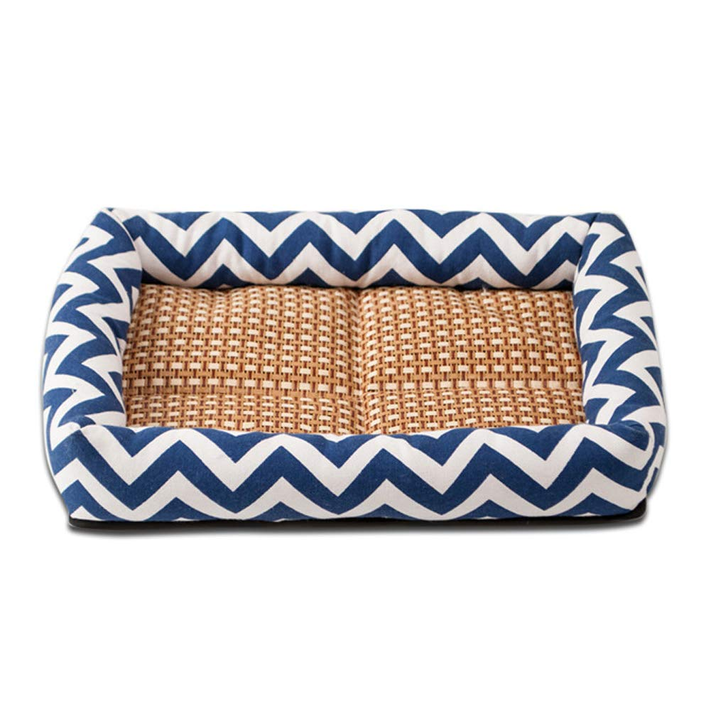 bluee Medium bluee Medium The Dog's Bed,Cool Wave Premium Plush Dog Beds in Oxford Cloth, Fully Washable, Extremely Soft Comfortable