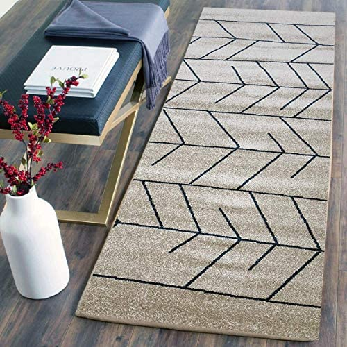 Area Rugs Pyramid Home Decor, Ivory Blue Design for Bed Room and Living Room Light Grey, Red, Area Rugs for Living Room, Area Rugs for Bedroom, 2 X 5 Area Rugs Clearance