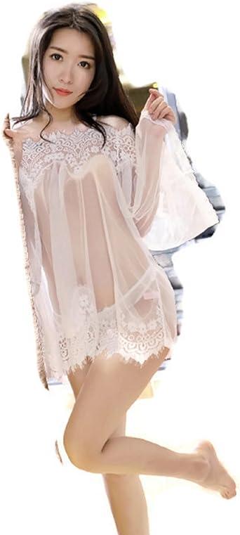 Las mujeres blancas vestido de encaje lenceria pijamas ropa interior  babyN EW
