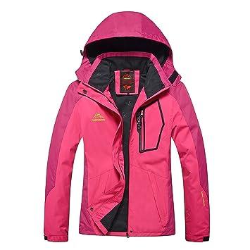 93082498a36a0 GITVIENAR Veste Randonnée Imperméable Softshell Coupe-Vent Manteau avec  Capuche Veste de Sport pour Femme
